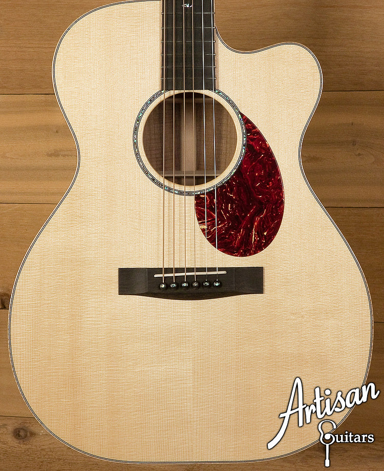 2010 Huss and Dalton Custom OMC European Spruce and Koa with Cutaway ID-6228 - Artisan Guitars