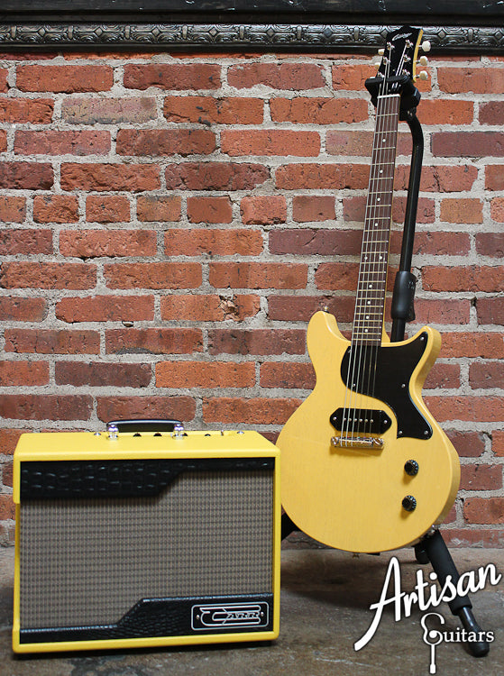 Carr Raleigh 1x10 TV Yellow with Tan Grill Cloth and Black Gator Trim ID-6596 - Artisan Guitars