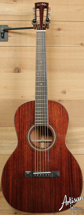 Huss and Dalton 00SP Custom Sinker Mahogany with Koa Bindings ID-6587
