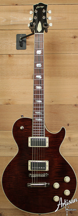 Collings City Limits Deluxe Rootbeer Flame Top with Jason Lollar Humbuckers and Parallelograms ID-6764 - Artisan Guitars