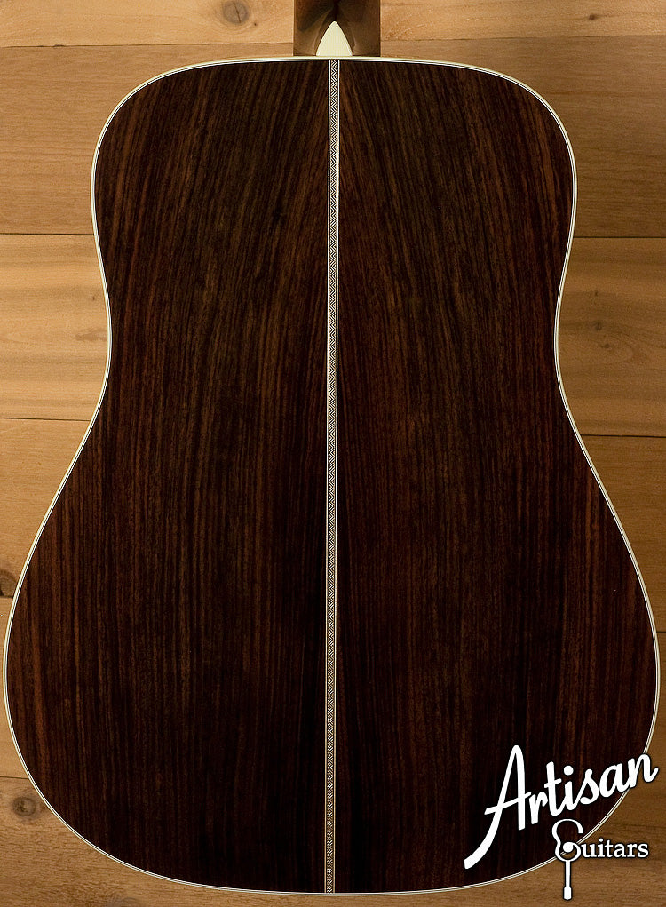 Collings D2HA Adirondack Top with No Tongue Brace Indian Rosewood Back and Sides ID-6122 - Artisan Guitars
