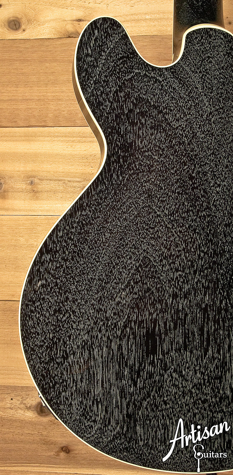 Collings I 35 Deluxe Maple Jet Black Top Doghair Back and Sides ID-5932 - Artisan Guitars