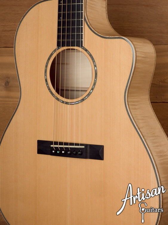 Huss and Dalton Custom FS Port Orford Cedar Top European Maple Back and Sides ID-5928 - Artisan Guitars