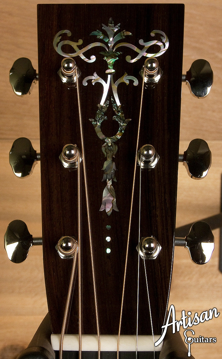 Collings D2HG German Spruce Custom with Adirondack Bracing No Tongue Brace ID-6161 - Artisan Guitars