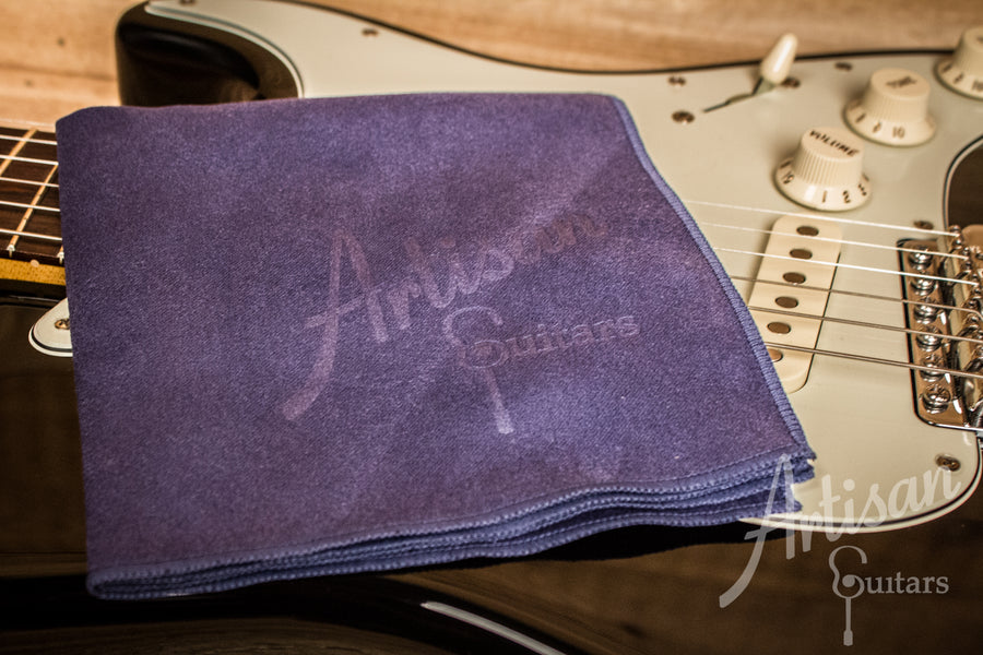 Artisan Guitars Smoke Blue Super-fine Micro Suede Polish Cloth - Artisan Guitars