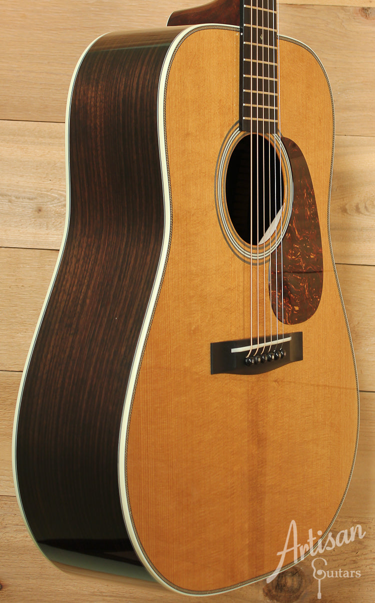 Pre Owned 2014 Huss and Dalton TD R Thermo Cured Appalachian Red Spruce and Indian Rosewood with Hot Hide Glue ID-7965 - Artisan Guitars