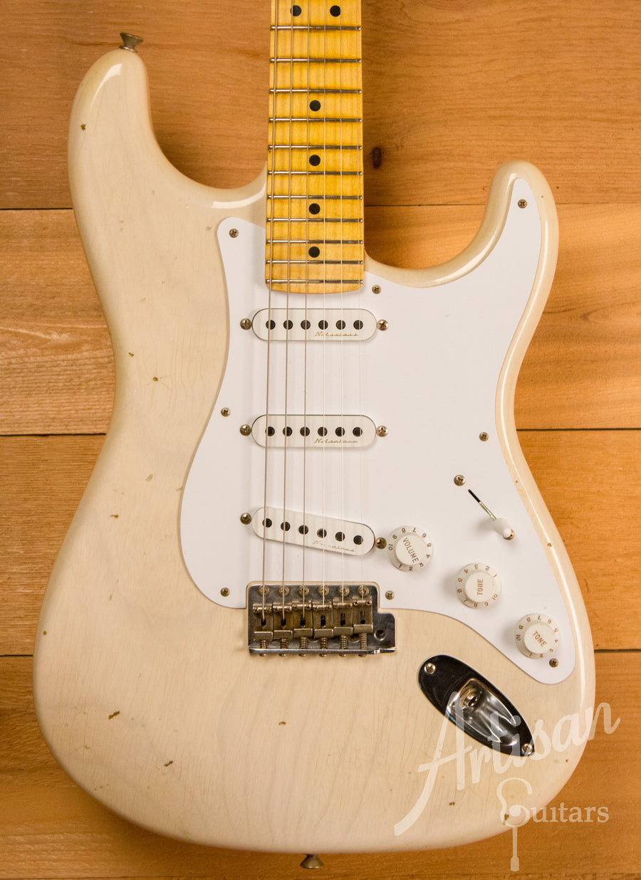 Fender Custom Shop Artist Collection Journeyman Relic Eric Clapton Stratocaster Aged White Blonde Finish ID-11160
