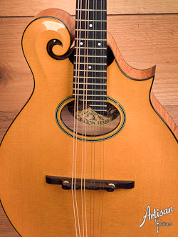 Collings MF5-O F-Style Mandolin with Oval Sound Hole and Blonde Finish ID-5570 - Artisan Guitars