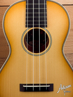 Collings Ukulele UC2 with Custom Western Shaded Top and Rope Purfling ID-5291 - Artisan Guitars