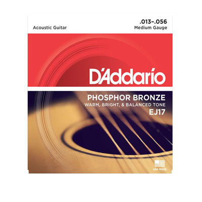 D'Addario EJ17 Phosphor Bronze Acoustic Medium Gauge Strings ID-8647 - Artisan Guitars