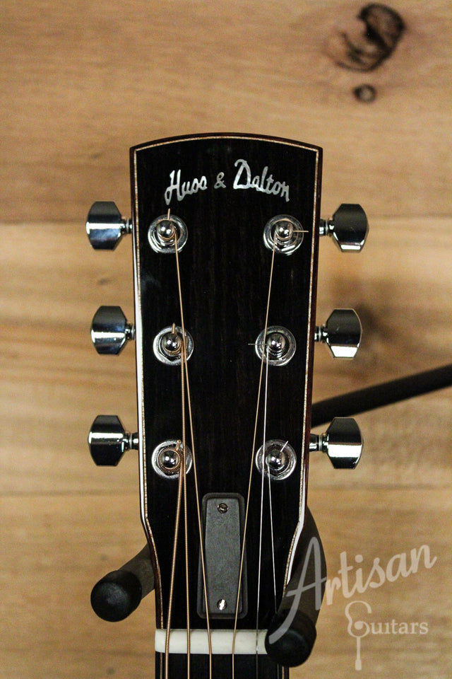 Huss and Dalton CM Guitar Non Cutaway Italian Spruce and Indian Rosewood ID-9536 - Artisan Guitars