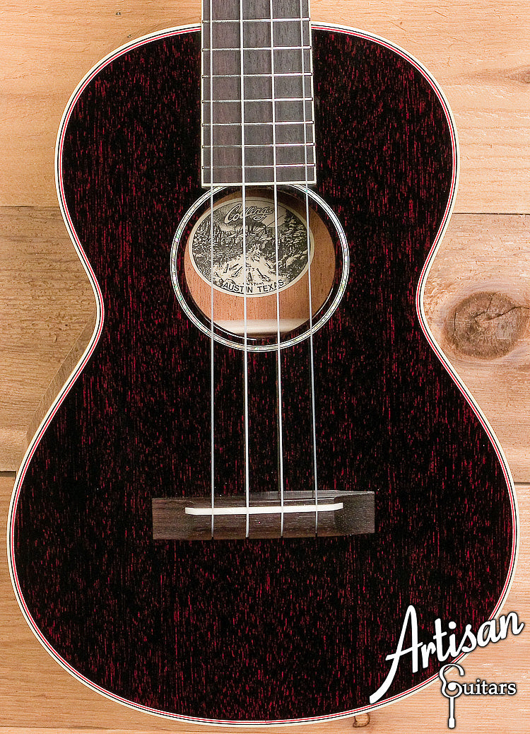 Collings Ukulele UT2 Tenor Mahogany with Custom Red Doghair Finish ID-6084