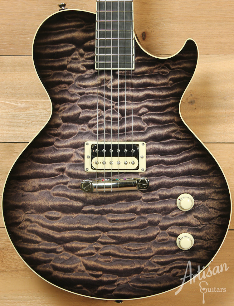 Collings City Limits Deluxe Premium Quilt Top with Acid Wash Finish and Wraparound Bridge ID-7751 - Artisan Guitars