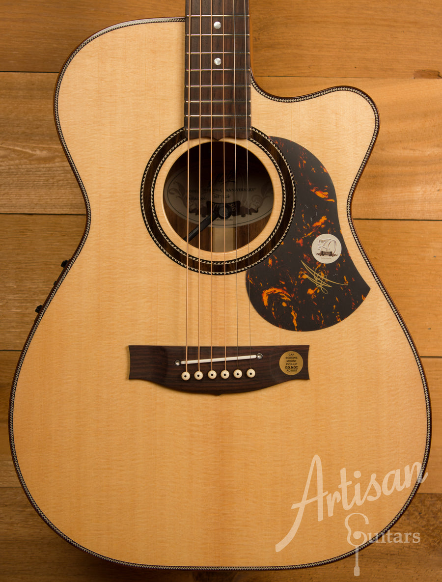 Maton 70th Anniversary 808 Cutaway Sitka Spruce and Blackwood ID-11171 - Artisan Guitars