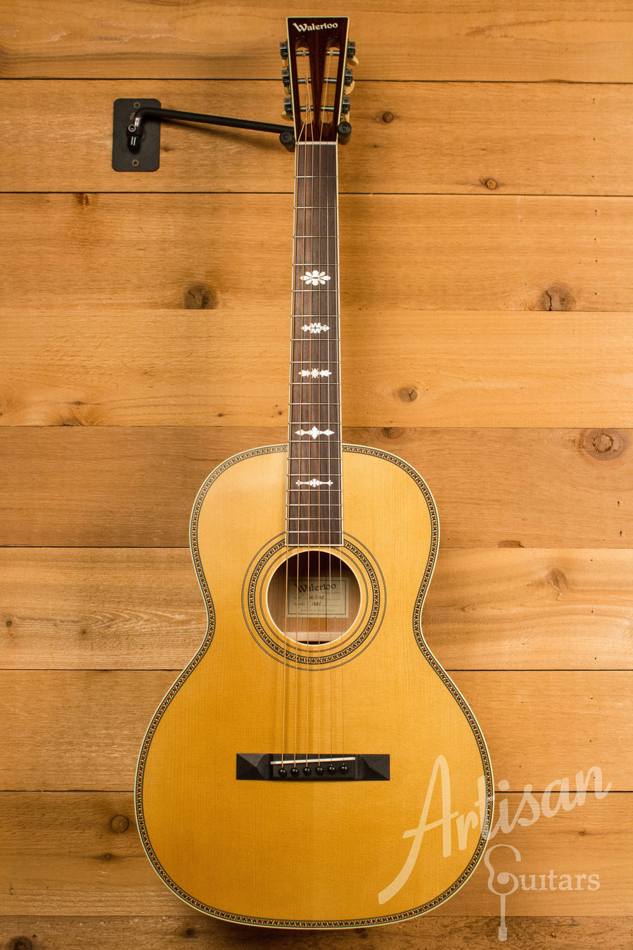 Waterloo WL-S DLX Ladder Braced Guitar Solid Spruce and Cherry ID-10956 - Artisan Guitars