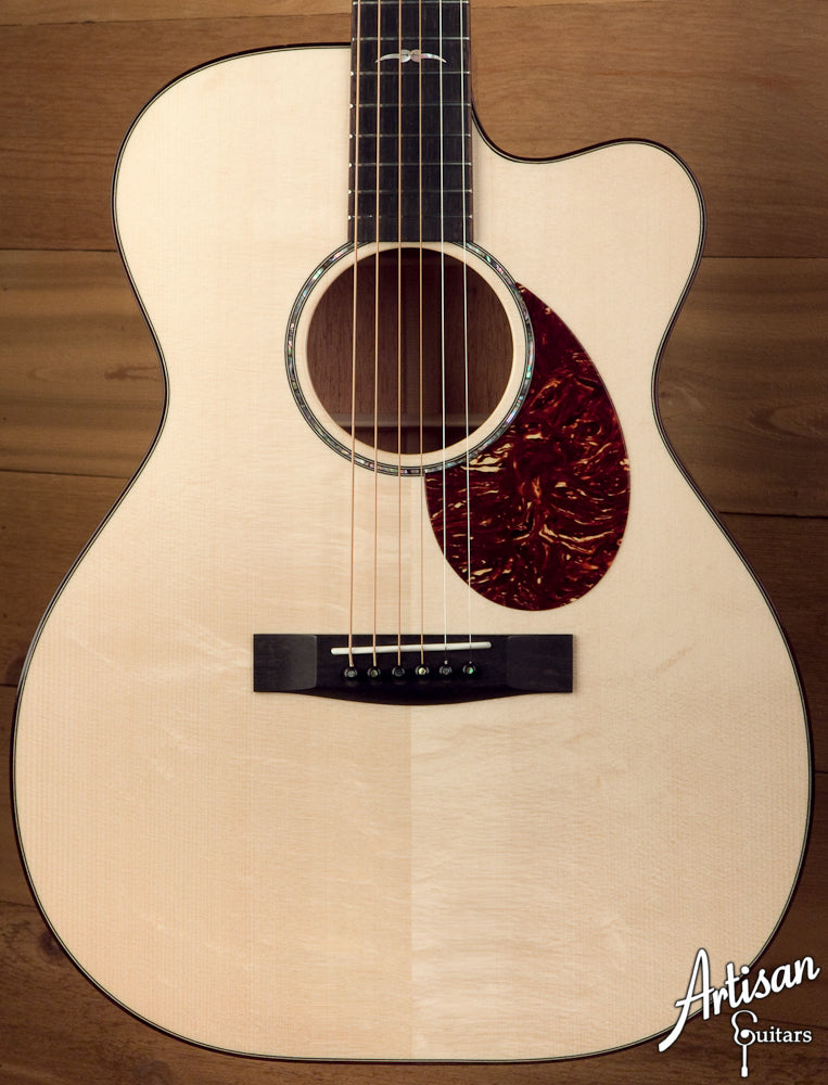 2010 Huss and Dalton OM-C with Italian Spruce and Cutaway ID-5920 - Artisan Guitars