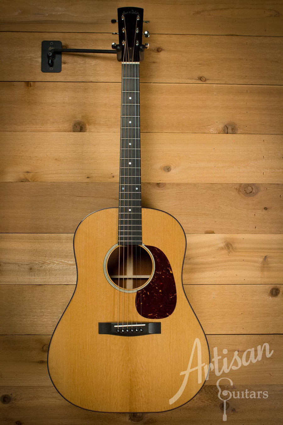 Huss and Dalton DS Slope Dreadnought Guitar Thermo-Cured Red Spruce and Caracolillo Sinker Mahogany Pre-Owned 2015 ID-9197 - Artisan Guitars