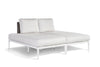 Stevie Double Chaise with Wrap Around Cushion