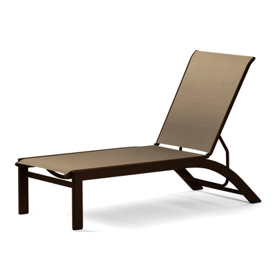 Kendall Sling Stackable Armless Chaise Lounges