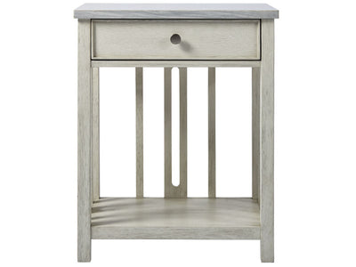 Bedside Table with Stone Top By Coastal Living