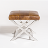 Hudson Chrome Cross Ottoman