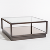 Warren Glass and Gunmetal Coffee Table