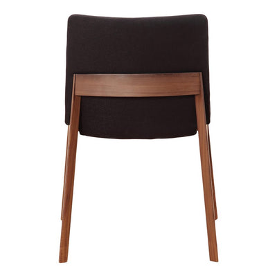 Pair of DECO DINING CHAIRs BLACK
