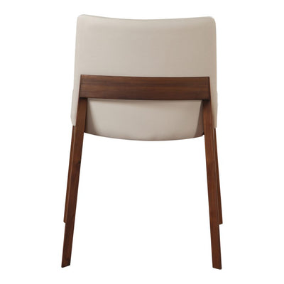 Pair of DECO DINING CHAIRs WHITE PVC
