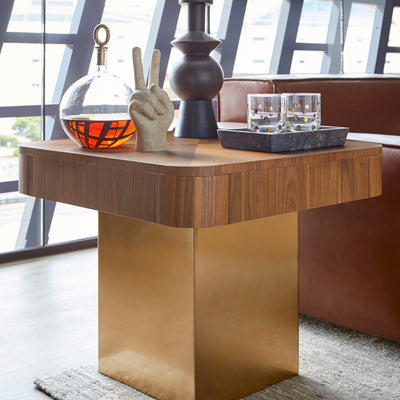 Saxo End Table by Bobby Berk