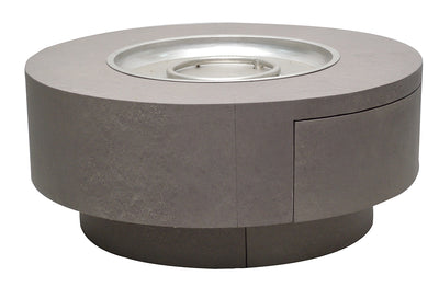 "42"" Round Faux Concrete Firetable"