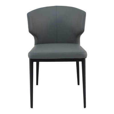 Pair of DELANEY SIDE CHAIRs GREY