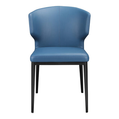 Pair of DELANEY SIDE CHAIRs STEEL BLUE