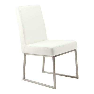 Pair of TYSON DINING CHAIRs WHITE