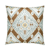 Ikat Diamond Caramel Throw Pillow
