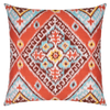 Ikat Diamond Flame Throw Pillow