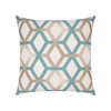 Lagoon lines throw pillow
