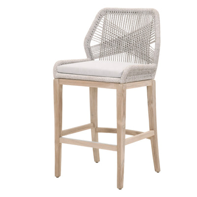 Loom Outdoor Bar Stools Taupe & White