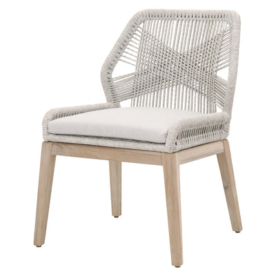 Loom Outdoor Armless Dining Chairs Taupe