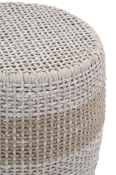 Taupe Loom Accent Table