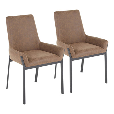 Odessa Black/Brown Dining Chair (sold in pairs)