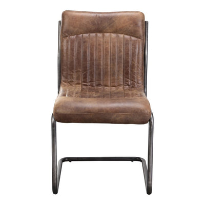 Pair of ANSEL DINING CHAIRs LIGHT BROWN
