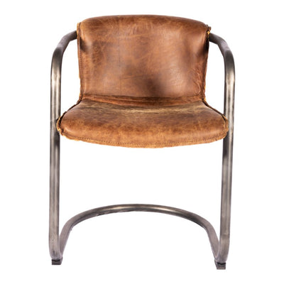 Pair of BENEDICT DINING CHAIRs LIGHT BROWN