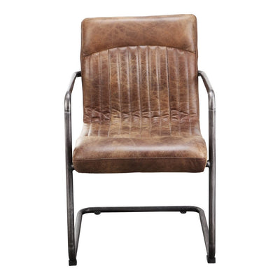 Pair of ANSEL ARM CHAIRs LIGHT BROWN