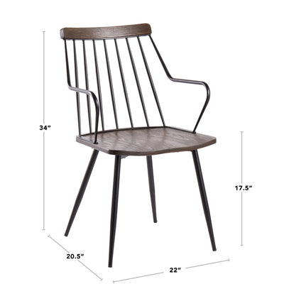 Preston Dark Walnut Dining Chair (sold in pairs)