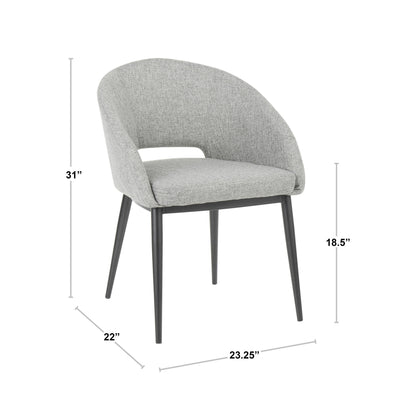 Renee Gray/Black Dining Chair (sold in pairs)