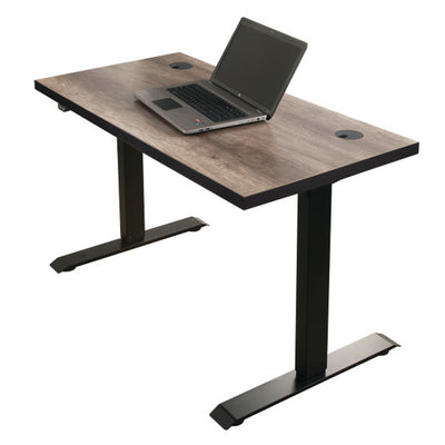 Streamline Sit/Stand Desk - Nut Brown Finish