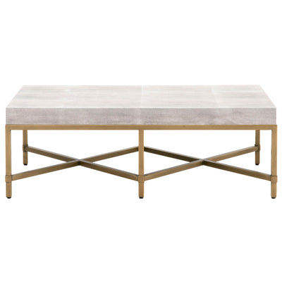 Strand White Shagreen Coffee Table