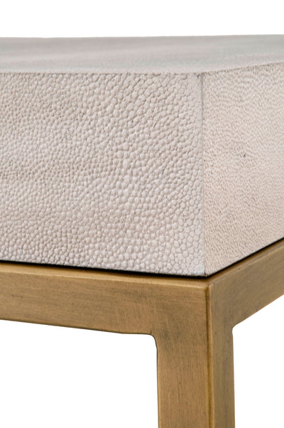 White Strand End Table