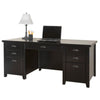Tribeca Loft Double Pedestal Executive Desk - Black Finish