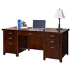 Tribeca Loft Double Pedestal Executive Desk - Cherry Finish